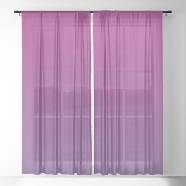 Pantone Chive Blossom Purple 18-3634 and Vivacious Red 19-2045 Ombre Gradient Blend Sheer Curtain