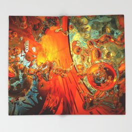 galaxies collide: élan vital ephemeral: in_destruction creation Throw Blanket