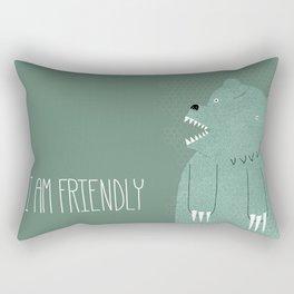 Friendly Bear Rectangular Pillow