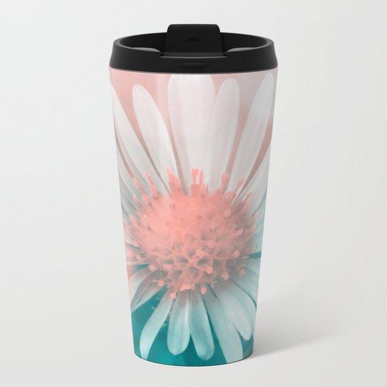 Flower Metal Travel Mug