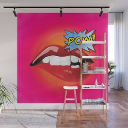 Pow! Sexy lips Fashion Pop Art Wall Mural