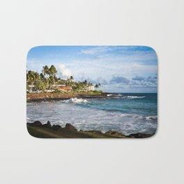 Surfers in Poipu Bath Mat