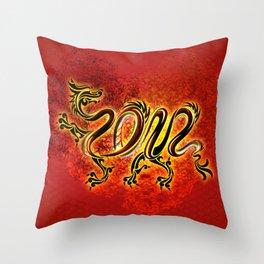 Drachen Throw Pillow