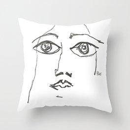 Woman gazing Throw Pillow