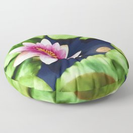 Lotus and Moon Floor Pillow