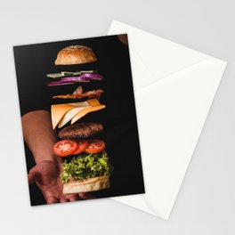 Burger Time Lapse Stationery Cards