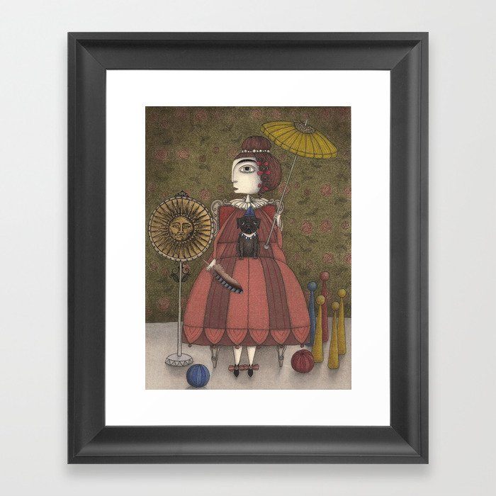 The Feather Framed Art Print