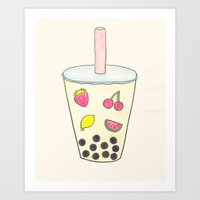 boba Art Prints featuring Boba by Anastasia Flowers