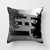 building Throw Pillows featuring Building by Yancey Wells