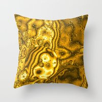 saturn Throw Pillows featuring Saturn by Brian Raggatt