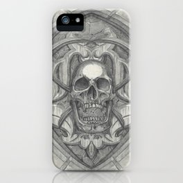 Crossed scythes iPhone Case