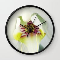 orchid Wall Clocks featuring Orchid by Falko Follert Art-FF77