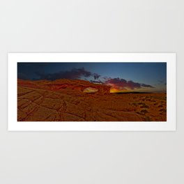 Sunset Arch Art Print