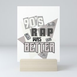 90s Rap Music graphic Retro Hip Hop Rapper design Mini Art Print