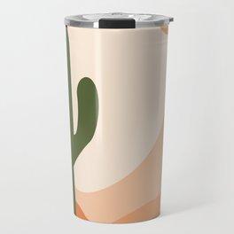 Desert climate, cactus , sun and sand  Travel Mug