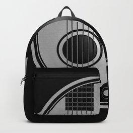 Guitar Yin Yang Gray and Black Backpack