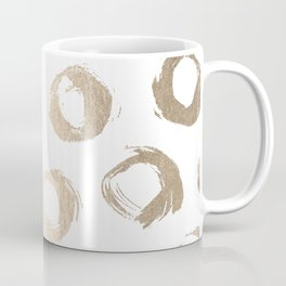 Luxe Gold City Dot Circles Coffee Mug