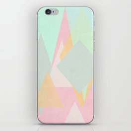 spring pastel abstract pattern design iPhone Skin