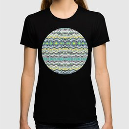 Teal Yellow White Midnight Aztec T-shirt