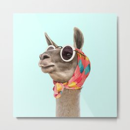 FASHION LAMA Metal Print