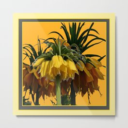 GOLDEN YELLOW CROWN IMPERIAL  FLOWERS Metal Print
