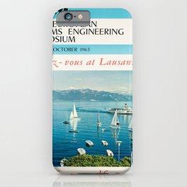 Plakat ibm first european systems iPhone Case