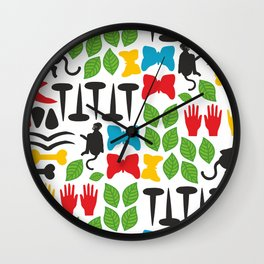 Frida Cutout Pattern Wall Clock