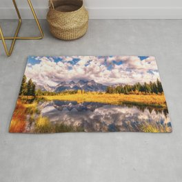 The Grand Tetons Range Reflection Rug