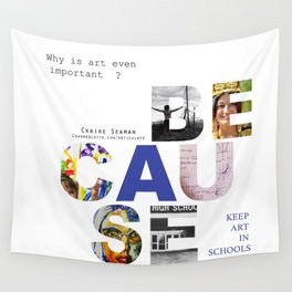 Because by Claire Seaman  Wall Tapestry