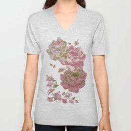 Roses for Charlotte Unisex V-Neck