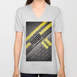 Grid Unisex V-Neck