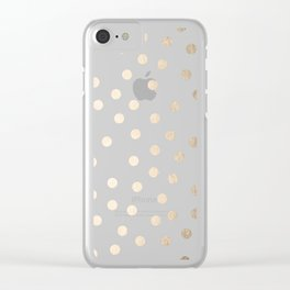Simply Dots in White Gold Sands Clear iPhone Case