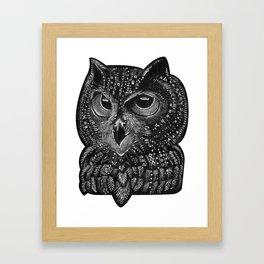 Cool owl Framed Art Print