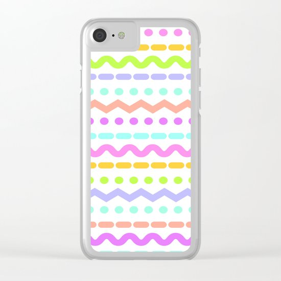 Color line 4 Clear iPhone Case