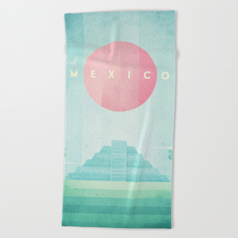 Mexico Beach Towel By Wetcake Society6