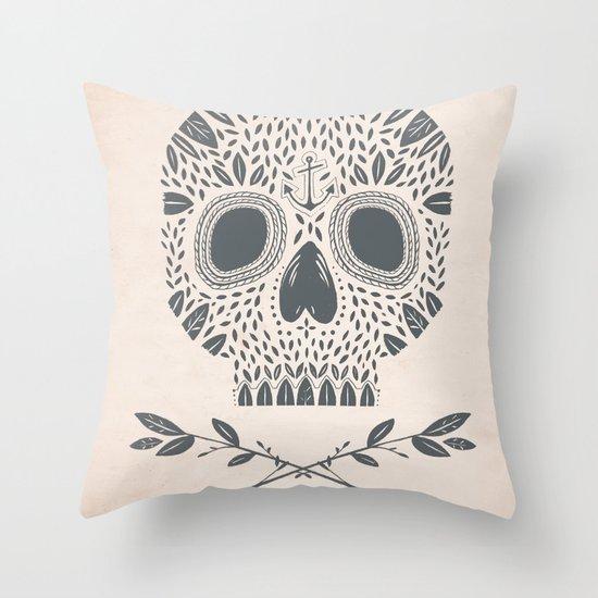LEAF SKULL Throw Pillow