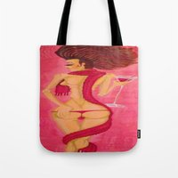 bitch Tote Bags featuring Bitch by Zila