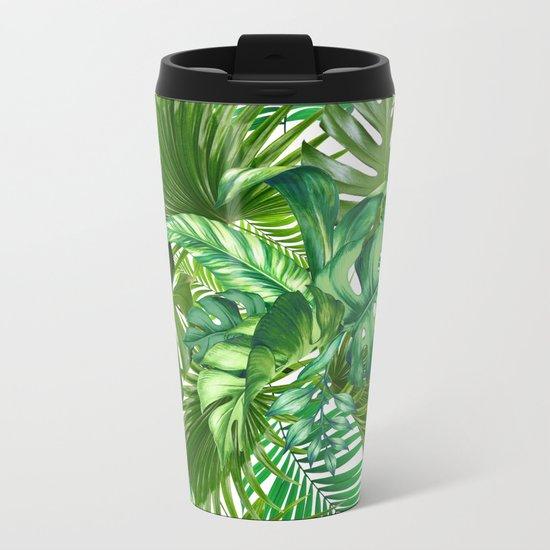 green tropic Metal Travel Mug