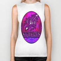 astrology Biker Tanks featuring Sagittarius Zodiac Sign Astrology by CAP Artwork & Design