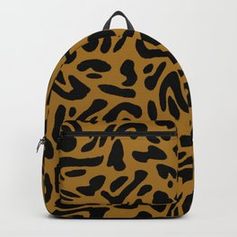 Caramel Leopard Cow Swirl Backpack