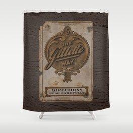 old razor ad Shower Curtain