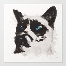 Cat that's Grumpy Canvas Print