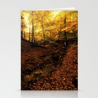 denmark Stationery Cards featuring Forest Haslev, Denmark - Autumn by by Henrik  (zoomphoto)