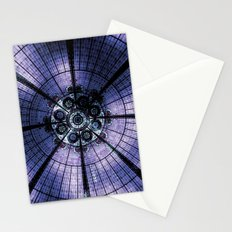 Purple Stained Glass Stationery Cards