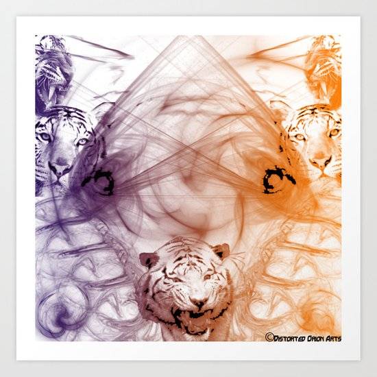 Tiger Family Art Print