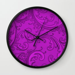 Dazzling Violet Swirls Wall Clock
