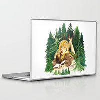 laura palmer Laptop & iPad Skins featuring Twin Peaks Secret Diary of Laura Palmer by Lindsey Caneso