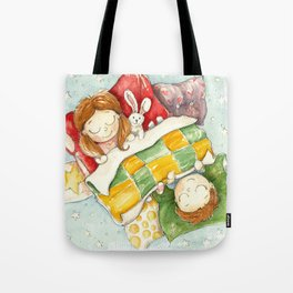 Sleeping children Tote Bag