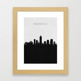 City Skylines: Indianapolis Framed Art Print
