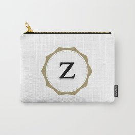 Vintage Letter Z Monogram Carry-All Pouch